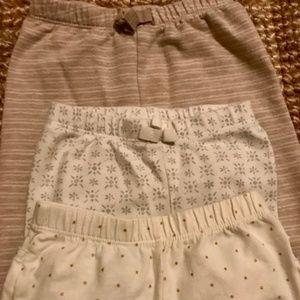 3 pairs neutral leggings 6-12 months